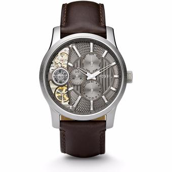 FOSSIl MECHANICAL TWIST BROWN LEATHER WATCH ME1098