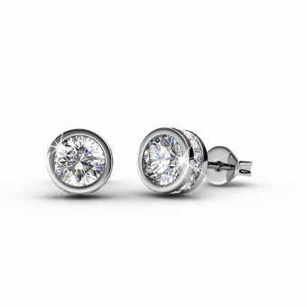 Glam Solitaire Earrings - Crystals from Swarovski(R)
