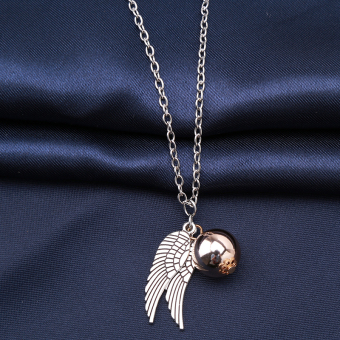 Hanyu Harry Potter Golden Snitch Quicksilver Golden Pearl Necklace - 5