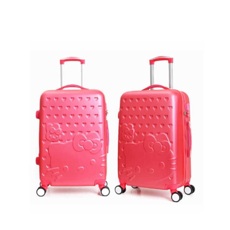 Hello Kitty Luggage (Rose) Size : 24inch (With Suitcase)