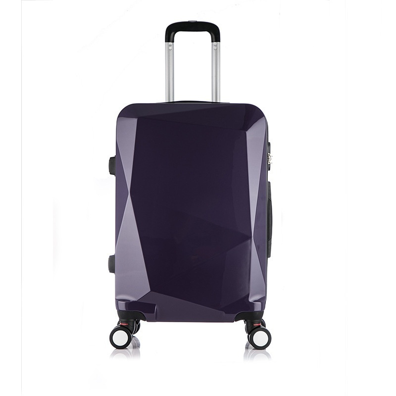 High Quality, PC / Diamond Pattern / Trolley Case, 20 Inch / Caster / Password / Suitcase (blue) - intl
