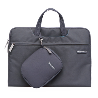 Harga GEARMAX Shockproof Laptop Briefcase 13 Inch Gray - Intl