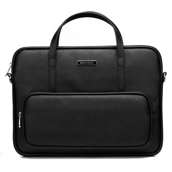 Harga GEARMAX 13.3 Inch PU Leather Laptop Briefcase /Messenger bag (Black)