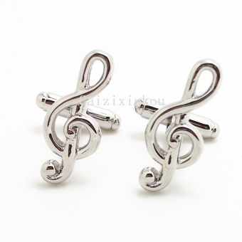Harga Notes cufflinks wets classic metal silver gold music note cufflinks music cufflinks business casual lovers