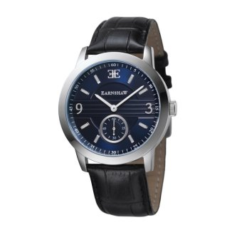 Harga Thomas Earnshaw GREENOCK ES-8022-03 Men's Black Genuine Leather Strap Watch - intl