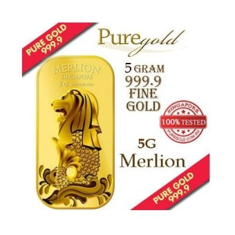 Harga Puregold Singapore Merlion SEA Gold Bar 5g.