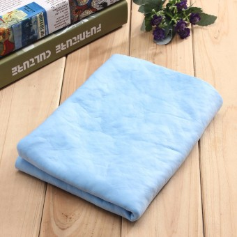 Harga Chamois Leather Car Washing Cleaning Drying Multifunction Towel Wipes 66x43cm Blue - Intl