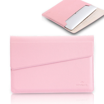 Harga GEARMAX PU Leather Laptop Bag Sleeve Case Computer Bag Laptop Briefcase Cases for Macbook 11 12 13 15 Case Ultrabook Notebook, 13.3 inch + Pink