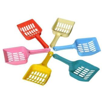 New Plastic Pet Dog Cat Kitten Litter Scoop Scooper Cleaning Tool Randomly