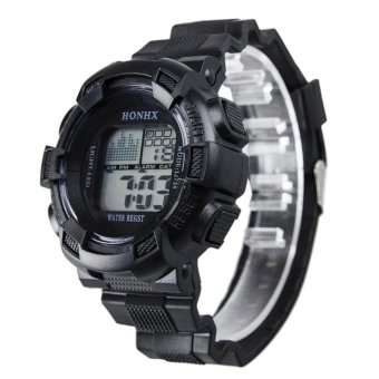 Harga en LCD Digital Stopwatch Date Rubber Sport Wrist Watch