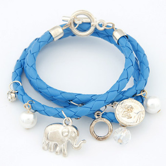 Harga Korean-style multi-element baby elephant woven multi-layer bracelet