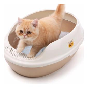 Harga CAT LITTER BOX WITH FOOTBOARD & FREE SCOOP No Sieve Brown