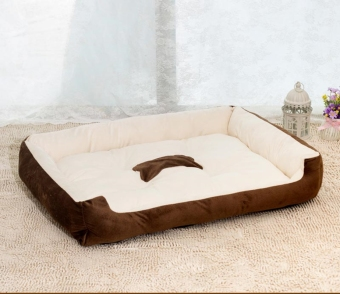 Harga Removable Puppy Cat Dog Bed Cushion Blanket Kennel Pet House M (Brown)