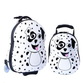 Harga Kids 2Pc Travel Tots Lightweight Luggage & Backpack The Dalmatian Luggage Set - intl