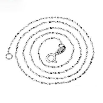 Harga Okdeals Pure 1mm Solid 925 Sterling Silver Starry Chain Necklace