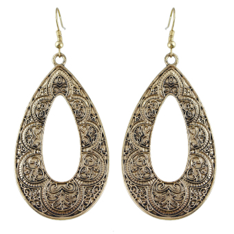 Harga Vintage Style Large Water Drop Shaped Dangle Earrings for Women