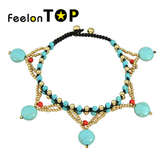 Harga Feelontop Beach Style Beads Chain Anklets for Women