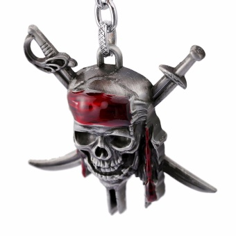 Harga Hequ Julie Pirates of the Caribbean Keychain Captain Jack Sparrow Mask Skull With - intl