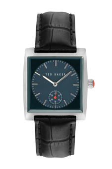 Harga Ted Baker ITE1110 Silver/Black Leather Watch