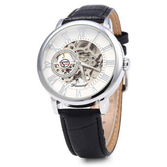 Harga Forsining Men Auto Mechanical Leather Wrist Watch