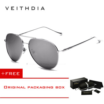 Harga VEITHDIA Brand Fashion Sun Glasses Polarized Coating Mirror Driving Sunglasses Oculos Male Eyewear For Men/Women 3360(Silver silver)[ Buy 1 Get 1 Freebie ]