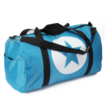 Harga Women Men Unisex Waterproof Nylon Large Travel Bag Sports Gym Duffle Tote Star Sky Blue (EXPORT)