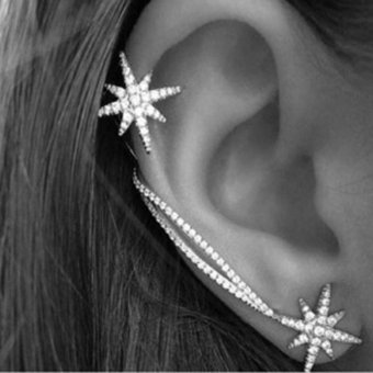 Harga Hanyu Fashion Starfish Shaped Stud Earrings For Women Girls - intl