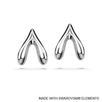 Wishbone Earrings - Crystals from Swarovski®️