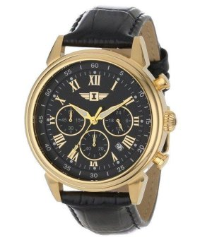 Harga Invicta I By Chronograph Quartz Men's Black Leather Strap Watch INVIBI90242-003/IBI90242-003