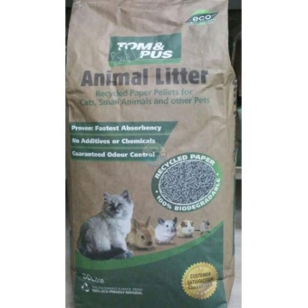 Harga Tom & Pus Recycled Paper Cat Litter 30l