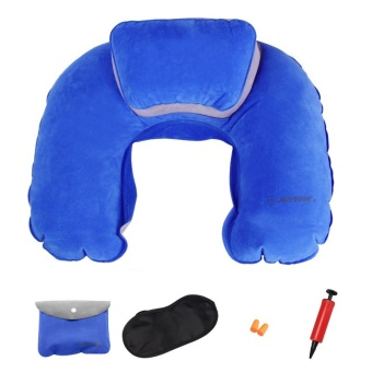 Inflatable neck pillow picture pillow U-shaped pillow flocking travel pillow U neck pillow inflatable pillow