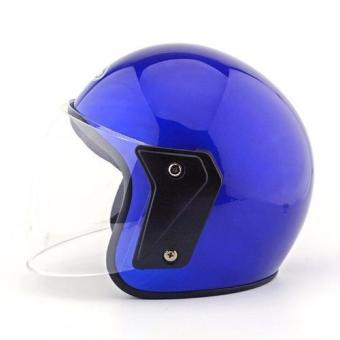 Motorcycle Motorbike Security Helmet (Blue) - intl