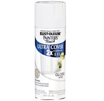 Harga Rust-Oleum Ultra Cover 2X Spray Paint 12oz (Gloss White)