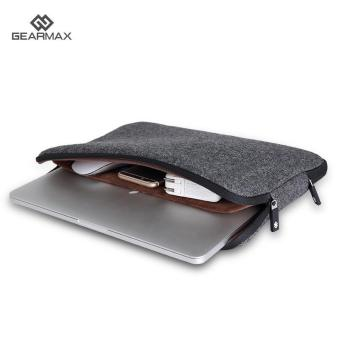 Harga GEARMAX Laptop Bag for Macbook 13.3 Anti-dust Case Felt Sleeve (Black) - intl