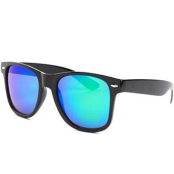 Harga Okdeals 80s Designer Shades UV400 Lens Aviator Sunglasses Green (EXPORT)
