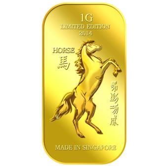 Harga Puregold 1g Golden Horse Gold Bar