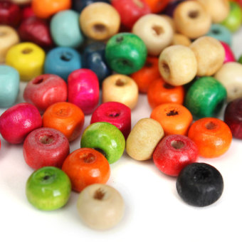 Harga 100 WOODEN beads pack 6mm