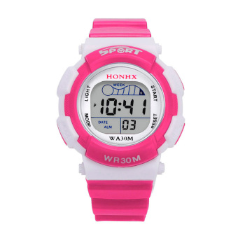 Harga Chided Digita choo port Waterproof Aar Writwatch (Hot Pink)