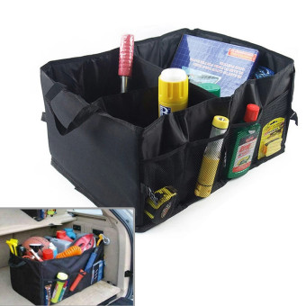 Harga Car Organizer Hot Sales Car Boot Storage Bags Folding Car Boot Stuff Bags Tools Food Organizer Storage Bags - intl