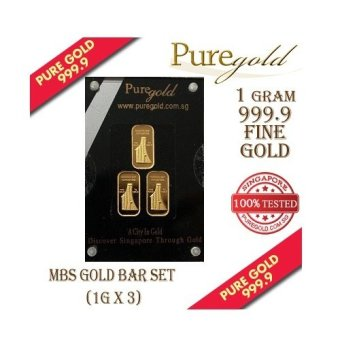 Harga Puregold Singapore Marina Bay Sands Gold Bar 1g set of 3.