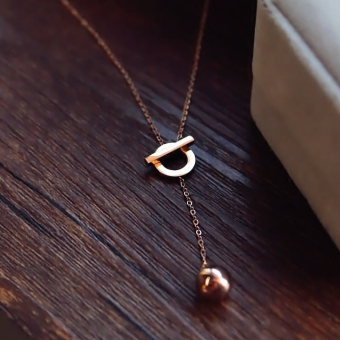 Harga letters love love clavicle chain necklace south korea female necklace accessories jewelry korean version of the temperament