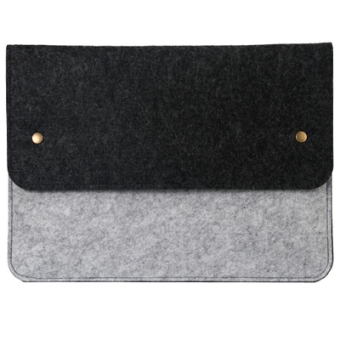 Harga Wholesale fashion green felt computer bag 11 inch 13 inch 14 inch 15 laptop bag can be printed logo
