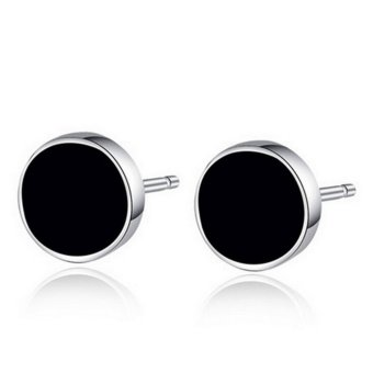 Harga 1 Pair Steam Punk Black Earing Stud For Young Men Mini Ear Stud Piercing