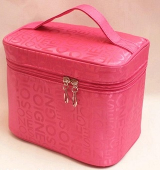 Harga Women Cosmetic Bags Travel Makeup Bag Make Up Bags (Rose)