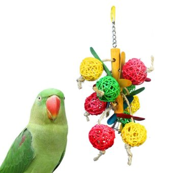 Harga Pet Parrot Colorful Bell Chew Ball