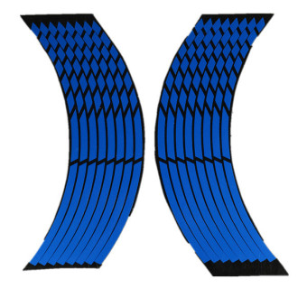 Harga 16 Strips Wheel Sticker Reflective Rim Stripe Tape Bike Motorcycle Car 16 17 18inch Blue