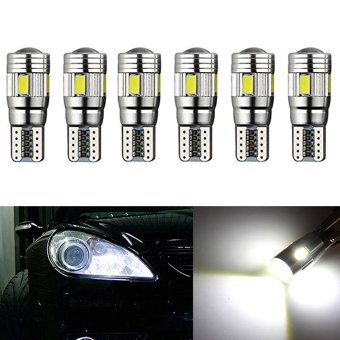 Harga Inlink White 6pcs Canbus T10 501 194 168 5630/5730 LED 6SMD Auto Car Error Free Replacement of Indicator Lights, Reading Lights, License plate lights, Door Lights side marker light, Tail light,backup lights Wedge Light DC 12V(White)