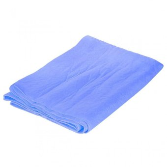 Harga UJS Multi-functional Absorbent Synthetic PVA Chamois Car Cleaning Towel Cloth - Blue High Strength Tensile And Tearing Resistance