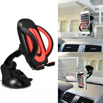 For Cell Phone GPS Universal 360° Car Windscreen Dashboard Mount Stand Holder Black - intl