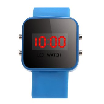 Harga Boy Girls Silicone Led Digital Watches Sport Clock Watch (Sky Blue)